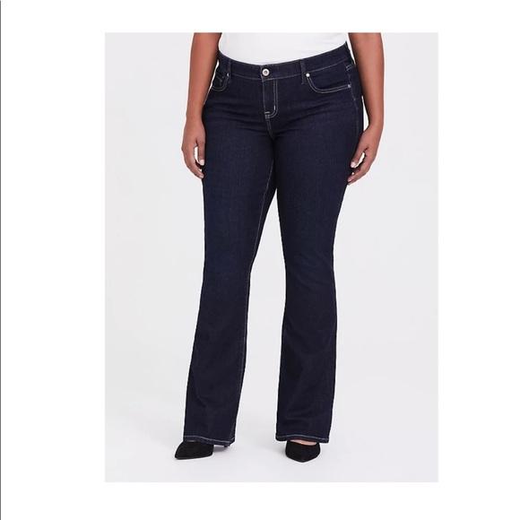 Torrid slim boot jeans vintage stretch dark wash